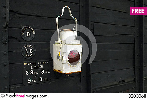 Free Railroad Lantern Royalty Free Stock Photos - 8203068