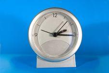 Simple Gray Desk Clock Stock Photography