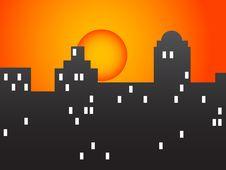 Free City At Dawn Royalty Free Stock Image - 8201506