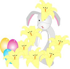 Free Bunny With Flower On Head Royalty Free Stock Images - 8201599