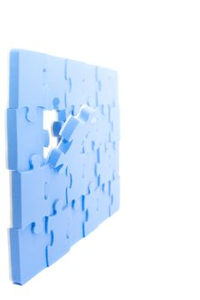 Free Blue Puzzle Stock Images - 8201854