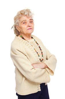 Free Happy Elderly Woman Royalty Free Stock Image - 8203106