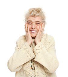 Free Elderly Woman Smiling Stock Image - 8203121