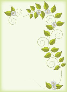 Free Green Floral Background Royalty Free Stock Photography - 8203147