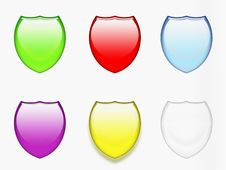 Free Badges In Colors Stock Photos - 8203393