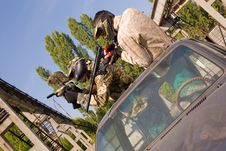 Free Paintball Players On The Car Royalty Free Stock Photos - 8203978