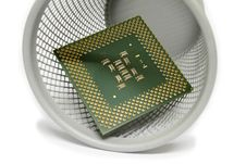 Free CPU In Trash Can Royalty Free Stock Photos - 8204198