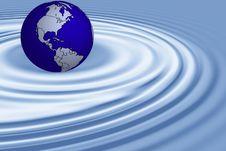 Free World Globe On Water Royalty Free Stock Photo - 8204285