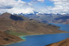 Free Snowy Mountains And Blue River Royalty Free Stock Image - 8204296