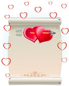 Free Hearts And Package Royalty Free Stock Image - 8204366