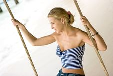 Rope Swings Royalty Free Stock Photography
