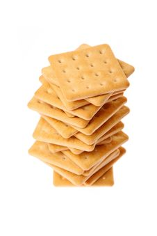 Free Pile Of Crackers Isolated On White Stock Photo - 8205000