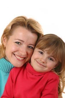 Free Portrait Of Happy Mother And Daughter Royalty Free Stock Photo - 8205075