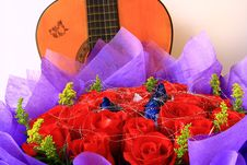 Free Rose With Guitar Stock Photos - 8205133