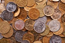 Free Coins Background Stock Image - 8205221