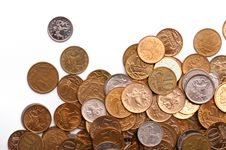 Free Coins Background Stock Image - 8205231