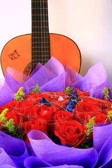 Free Rose With Guitar Stock Photos - 8205443