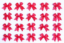 Free Red Bows. Royalty Free Stock Images - 8205669