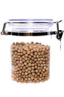 Free Container Of Pea Royalty Free Stock Photo - 8205775