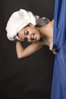 Free Beautiful Woman Taking A Shower Stock Image - 8206731