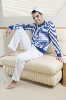 Free Sailorman Wearing Sailor Clothes Into A Yatch Stock Images - 8206984