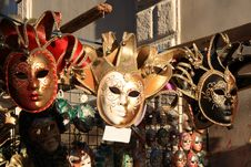 Free Venician Masks Royalty Free Stock Images - 8207209