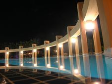 Free Hotel Pool Royalty Free Stock Photography - 8207357