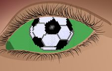 Free Soccer Eye Royalty Free Stock Photo - 8207415