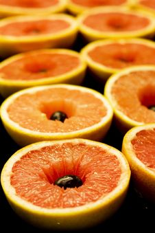 Free Fresh Grapefruit Halves Stock Image - 8207621