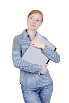 Free Business Woman With The Laptop Stock Photography - 8208052