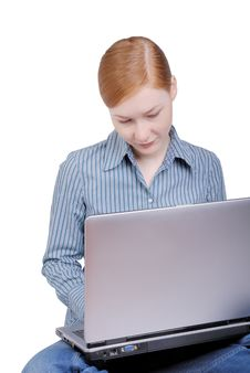 Free Business Woman With The Laptop Stock Photos - 8208063