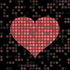 Free Speckled Heart Royalty Free Stock Images - 8208339