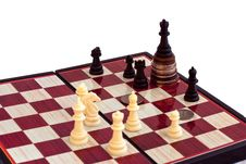 Chess And The King On Coins Stock Image