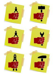 Free Holding Tool Symbols Vector Stock Image - 8209311