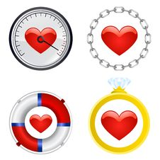 Heart Symbol Set Vector Stock Photo