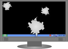 Screen Blew Up Royalty Free Stock Photo