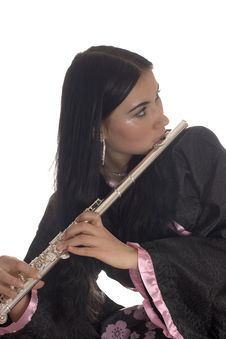 Free Young Woman With A Flute Stock Photos - 8209923