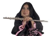 Free Young Woman With A Flute Royalty Free Stock Photo - 8209925