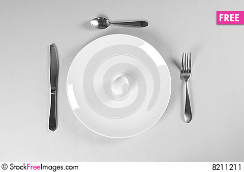 Free White Plate And Diet Stock Image - 8211211