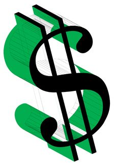 Free Dollar Sign-Wireframe2 Stock Photography - 8210262