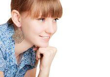 Free Pretty Smiling Girl On White Background Stock Photos - 8210313