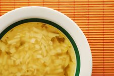 Plate With Soup Royalty Free Stock Photos