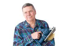 Free Portrait Of Mature Handyman Royalty Free Stock Photo - 8210895