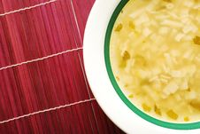 Plate With Soup Royalty Free Stock Photo