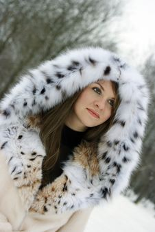 Free Lady In Fur Stock Images - 8210974