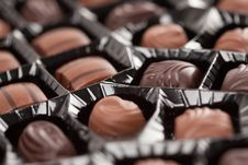Free Tray Of Chocolates Royalty Free Stock Photos - 8211008