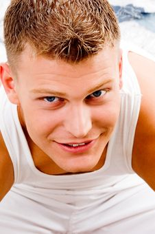 Portrait Smiling Handsome Male Looking At Camera Royalty Free Stock Photo