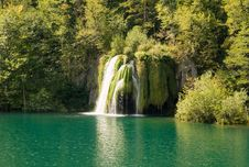 Free Waterfall In The Plitvice National Park Stock Photography - 8211642