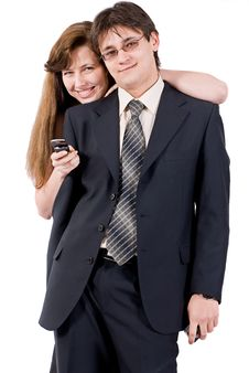 Free Young Couple Talking On The Phone Royalty Free Stock Photo - 8211795