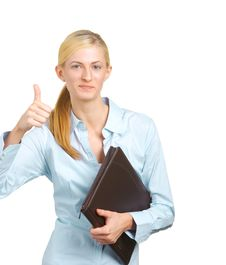 Free Business Woman Thumbs Up Royalty Free Stock Image - 8213006